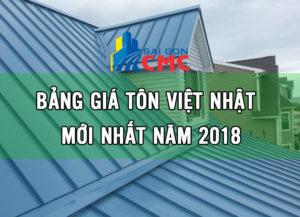 Bảng báo giá tôn Việt Nhật, bang bao gia ton viet nhat