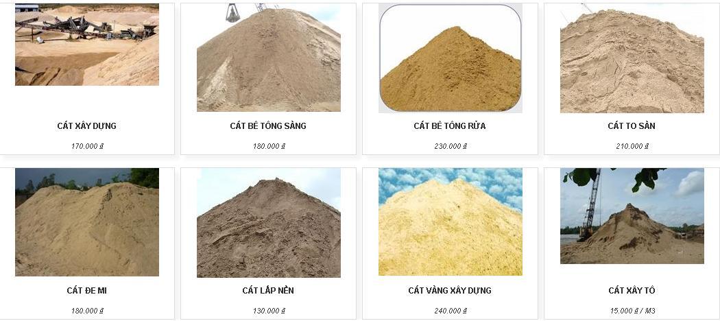 Bảng báo giá cát bê tông rửa - SÀI GÒN CMC