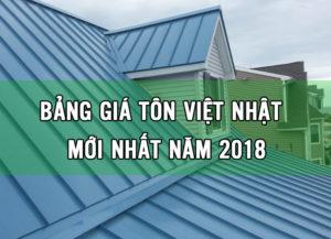 Báo giá tôn xây dựng mới nhất năm 2018