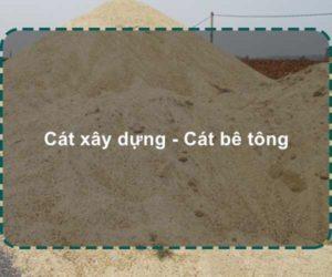 cát xây dựng | cát bê tông